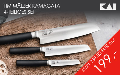 Tim Mälzer Kamagata, 4-teiliges Messer-Set